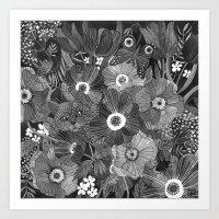 oana befort Art Prints featuring Kitty Undercover by Oana Befort