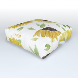 Sunflowers Outdoor Floor Cushion