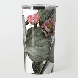 Prickly Pear Cactus Painting Travel Mug