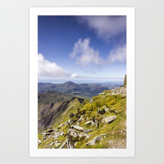 Snowdon To Anglesey Art Print