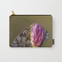 MARBLED WHITE BUTTERFLY Carry-All Pouch