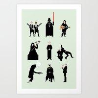 men Art Prints featuring Men in Black by Eric Fan