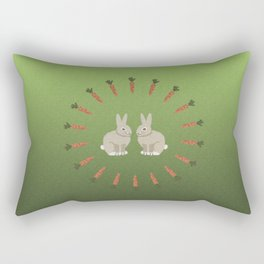 Carrots and Rabbits Rectangular Pillow