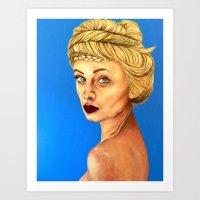 Girl in Blue Art Print