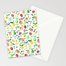 Fresh Fruit - a watercolor pattern Stationery Cards