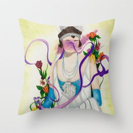 The Wedding Portrait Throw Pillow