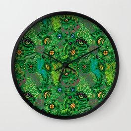 Surreal pattern (color) Wall Clock