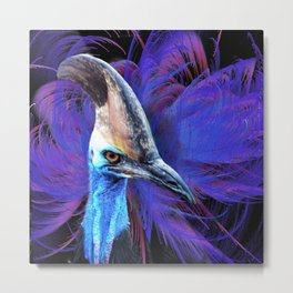 Feathered Cassowary Metal Print