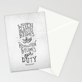 Revolution Becomes Our Duty Stationery Cards