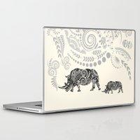 rhino Laptop & iPad Skins featuring Rhino by famenxt