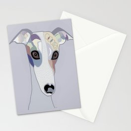 Whippet in Denim Colors Stationery Cards