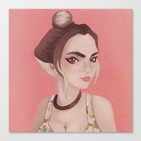 boho Canvas Prints featuring Boho by karolindie