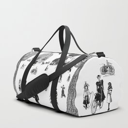 city view from window in 1898 vintage Victorian Duffle Bag