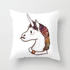 Doctor Unicorn Throw Pillow
