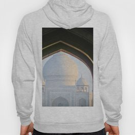 First View of Taj Mahal through the Morning Mist Hoody