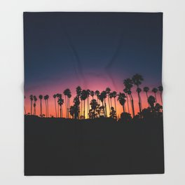 The Perfect Tropical Sunset (Color) Throw Blanket