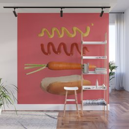 Vegan Hot Dog Wall Mural