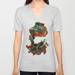 """Betta splendens Deep water (Siam fighter)"" Unisex V-Neck"