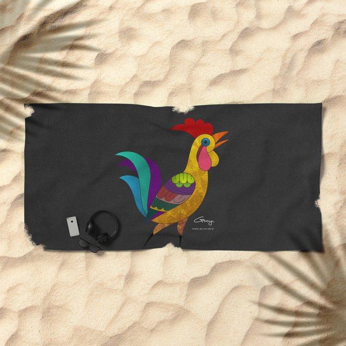 Cock_Armenia Beach Towel