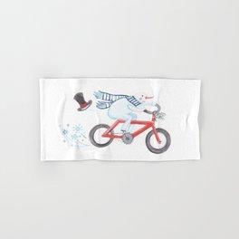 Walden's Red Bike Hand & Bath Towel