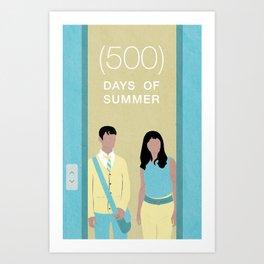 (500) Days of Summer Movie Poster Art Print