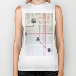 Sum Shape - Line graphic Biker Tank