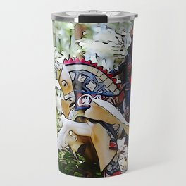 Gallant knight upon Pegasus Travel Mug