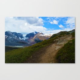 Athabasca & Snowdome Glaciers in Jasper National Park, Canada Canvas Print