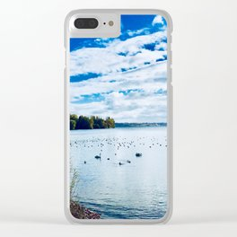 Swan Family Photograhy Clear iPhone Case