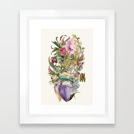 Mi Corazon anatomical heart collage by Bedelgeuse Framed Art Print