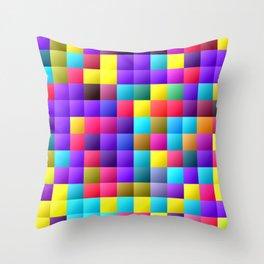 Pixel dance floor. Throw Pillow