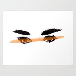 Audrey's eyes 2 Art Print