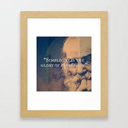 Walt Whitman - Simplicity Framed Art Print