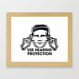 FAC 1 tribute - Factory Records - Use Hearing Protection Framed Art Print