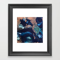 Color Commentary #14: Patina (Blue & Copper, Painter's Choice) [Debi Vaught-Thelin] Framed Art Print