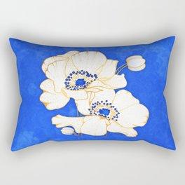 Ultramarine Blue :: Anemones Rectangular Pillow