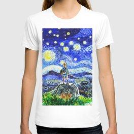 triforce link starry night T-shirt