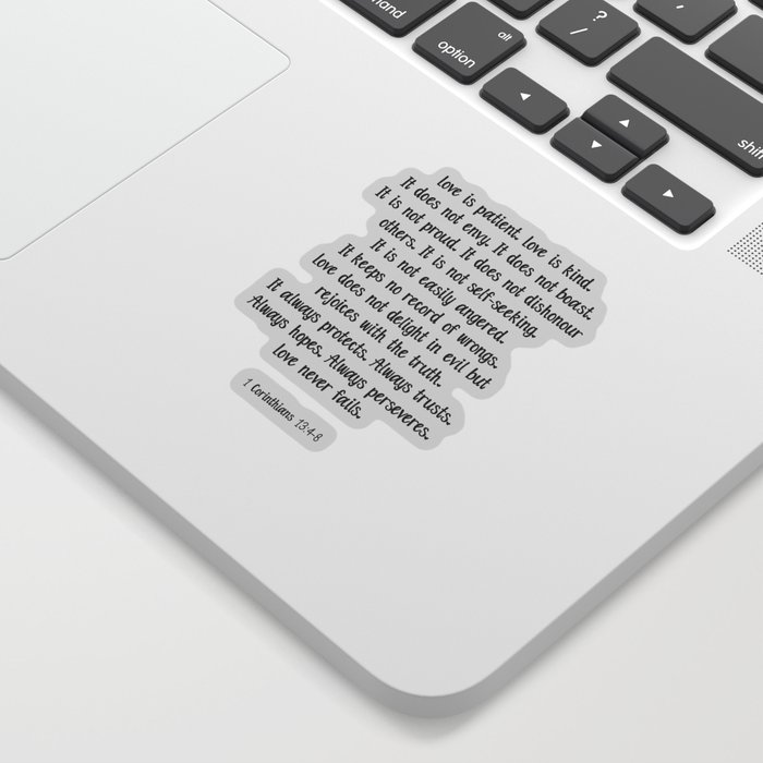 Love is patient love is kind quote Sticker