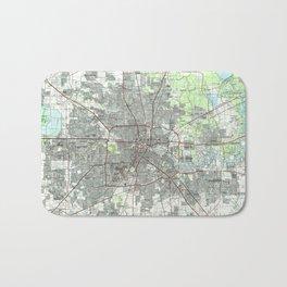 Houston Texas Map (1992) Bath Mat