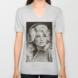 young dolly parton album 2020 atin1 Unisex V-Neck