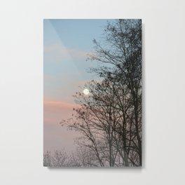 full moon hanging on the trees limbs Metal Print