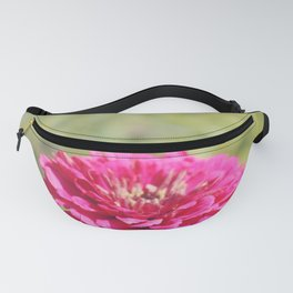 Pink Zinnia in the Sun Fanny Pack