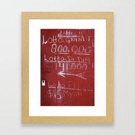 LOTTO GRANDI Framed Art Print
