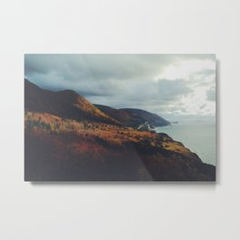 Autumn Coast Metal Print