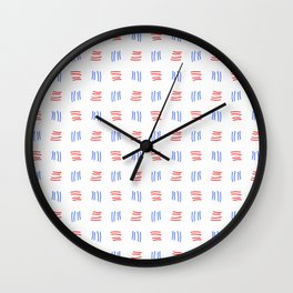 four lines 22 blue and pink Wall Clock