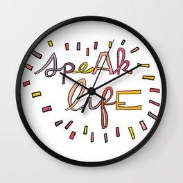 Speak Life Wall Clock