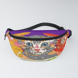 Cats in Watermelon Jacuzzi - Tropical Fanny Pack