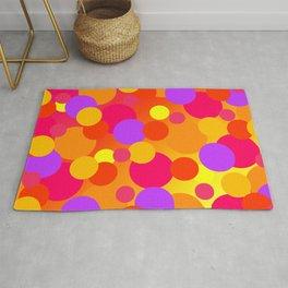 Bright Layered Polka Dots (Sunset Colors) Rug