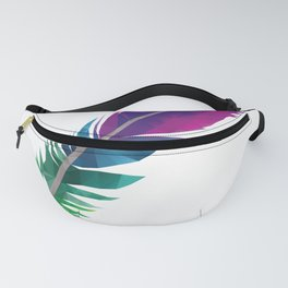 Colourful Feather polygon art Fanny Pack