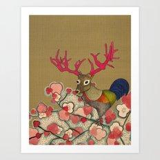 Chickedeer Blossoms Art Print